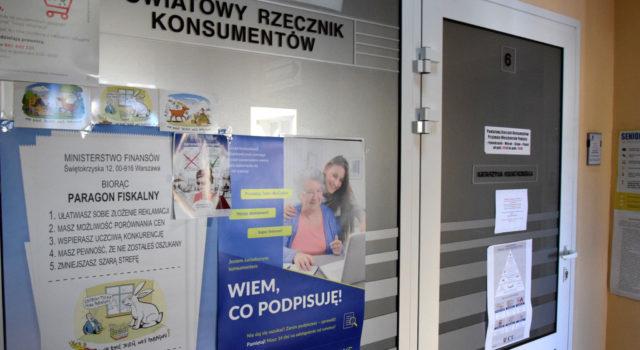 Biuro Powiatowego Rzecznika Konsumentów nieczynne do9 lipca