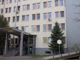 Główne wejście do nowosolskiego szpitala