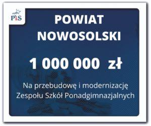 1 000 000 zł dla powiatu nowosolskiego