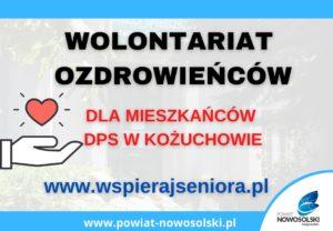 Wolontariusze ozdrowieńcy mogą się rejestrować nastronie www.wspierajseniora.pl