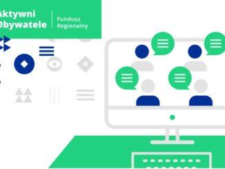 Grafika z logiem Programu Aktywni Obywatele – Fundusz Regionalny