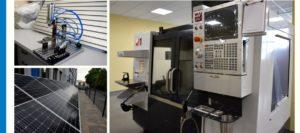 Doposażenie - obrabiarki CNC, ogródek energii odnawialnej