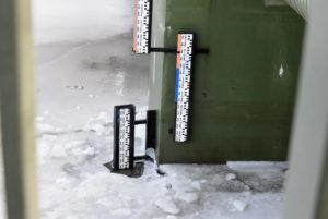 Wskaźnik poziomu wody naOdrze wNowej Soli - 270 cm