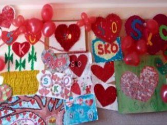 Prace plastycznie uczniów SOSW wykonane w ramach konkursu zakochani w SKO