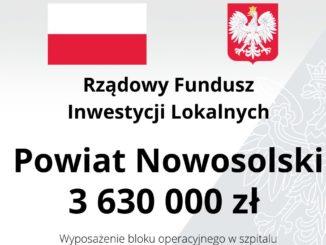 3 630 000 zł dla Powiatu Nowosolskiego z RFIL