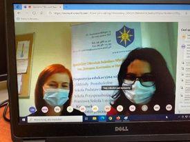 Zdjęcie ekranu komputera - . dwie nauczycielki, terapeutki, eTwinnerki ze Specjalnego Ośrodka Szkolno-Wychowawczego im. Janusza Korczaka w Nowej Soli