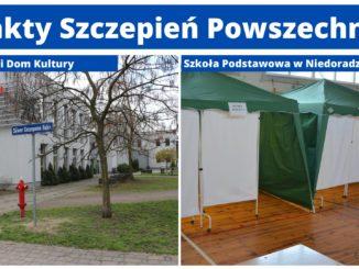 lokalizacje 2 punktów szczepień powszechnych - Nowa Sól i Niedoradz