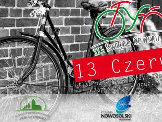 Rower na tle ceglanego muru - zaproszenie na III Święto Roweru