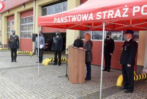 Wśród zaproszonych nauroczystość gości była Starosta Iwona Brzozowska