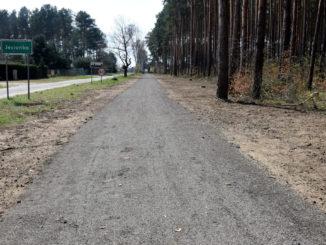 Fragment ścieżki rowerowej w Jesionce