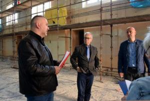 Rada budowy sali gimnastcyznej przy ul.Wróblewskiego zudziałem inspektora nadzoru inwestorskiego, wicestarosty orazdyrektora ZSP nr2