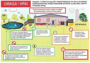 Zasady, którychnależy przestrzegać wcelu ochrony gospodarstwa przedwirusem HPAI -