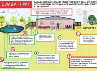 Zasady, których należy przestrzegać w celu ochrony gospodarstwa przed wirusem HPAI -
